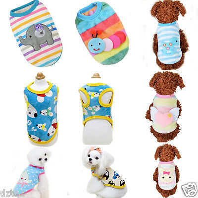 Cute Small Pet Clothing Dog Coat Vest Puppy Winter Warm Fleece Clouthes Apparel