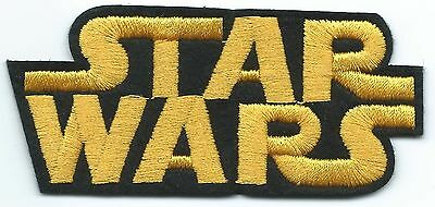Star Wars Logo Embroidered Patch Iron-on Art Good Luck Charm Magic