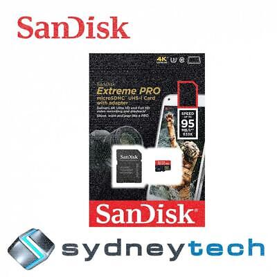 New SanDisk 64GB Micro SD Extreme Pro Class 10 UHS1 95MB/s with SD Card Adapter
