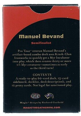 MTG. Magic the Gathering. World Championships Deck 2004 Manuel Bevand. NM. GB.