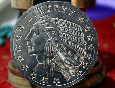 ONE Pound .996 FINE TITANIUM BULLION ROUND INCUSE INDIAN LOWEST DELIVERED PRICE