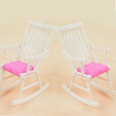 1pc Furniture Rocking Chair for Barbie Accessories Doll house Toy Random Color