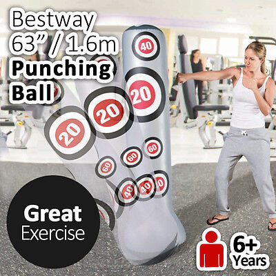 "Bestway 1.6m 63"" Punching Ball Box Bag Great home Gym Exercise"