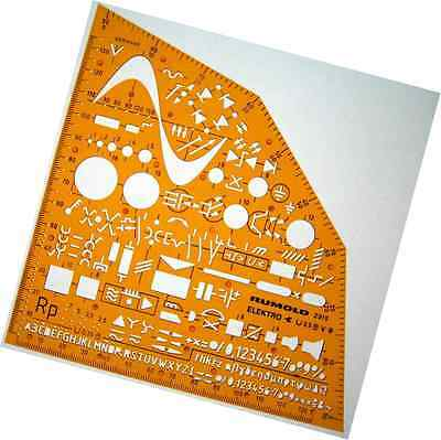 Electrical and Electronic Installation Symbols Drawing Template Stencil - Engine
