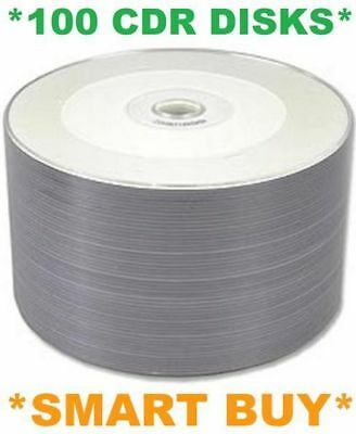 *FREE POSTAGE* 100 Discs/Disks CD-R White Full Printable CDR 700Mb 2x 50 Spindle