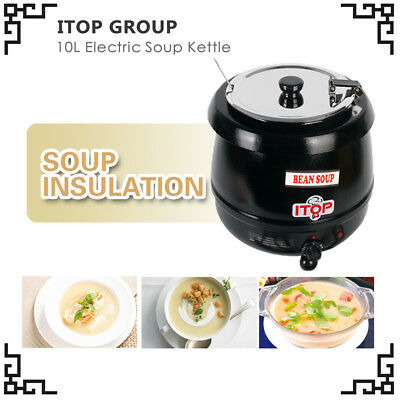 ITOP Soup Kettle 10L QT electric bolier black 400W 110V buffet party US in stock