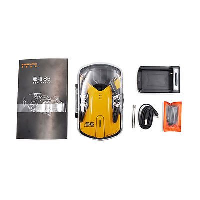 Newest Wingsland S6 Pocket Selfie WiFi RC Drone With 4K HD Camera Yellow Drones