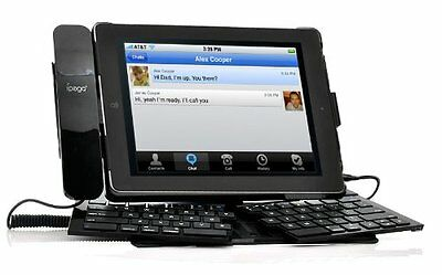 Tastiera Qwerty Wireless Bluetooth Pieghevole Per Ipad 2 / 3 Cornetta Integrata
