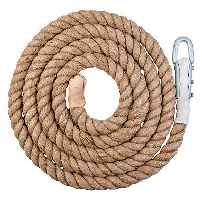 Climbing Abseiling Climbers Sport Natural Rope With Clip 5 Metre & Liquid Chalk