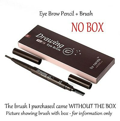 Eye Brow Pencil/Brush Double Ended Waterproof  Long Lasting Smudge-proof NO BOX