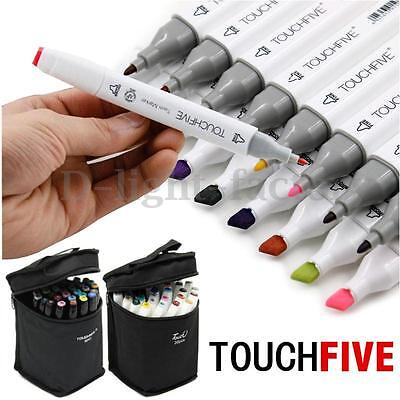 30 Colors TouchFive Twin Tip Stylo Graphic Art Animation Marker Broad Fine Point