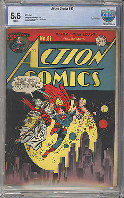 Action Comics # 81  Father Time 1944 Cover !  CBCS 5.5 scarce Golden Age book !