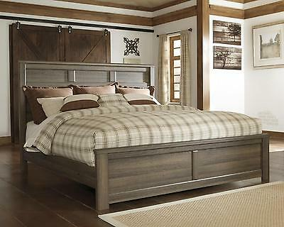 Ashley Juararo B251 King Size Panel Bedroom Set 2 Night Stands Casual Style