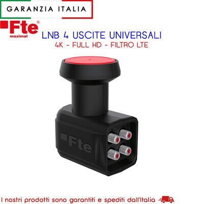 Lnb 4 Uscite Out Indipendenti Hd 0.1Db Fte Lte
