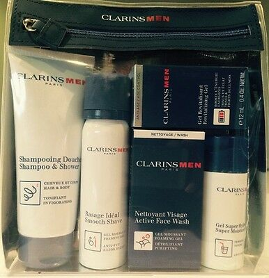 Clarins Men Grab & Fly Travel Exclusive Set .... Free 1st Class Post ..