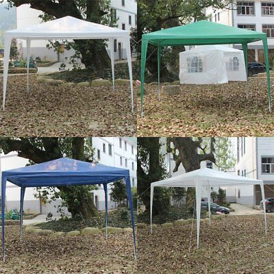 New 3 x 3m 120g Waterproof Outdoor PE Garden Gazebo Marquee Canopy Party Tent AY