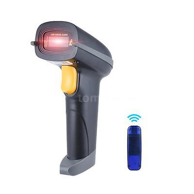 2.4G Wireless Barcode Scanner Scan Gun Label Reader USB Receiver Cable POS G0S3
