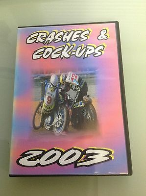 Crashes & Cock-ups 2003 DVD Speedway Grasstrack ReRun Productions