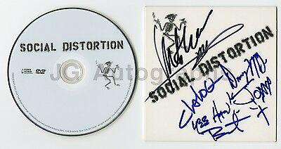 Social Distortion - Self Titled Autographed DVD Sampler Signed by 5 - Mike Ness