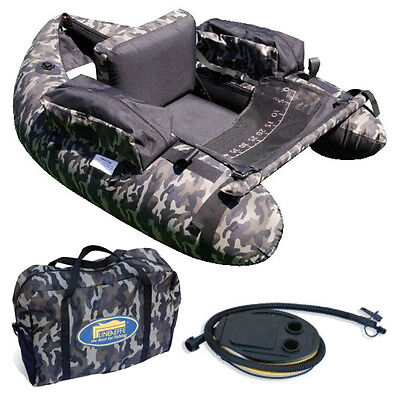 Lineaeffe Camo Fishing Belly Boat With Pump And Camo Bag Trout Game