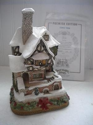 David Winter 1996 Christmas Tiny Tim Cottage Premier Limited Edition w/ COA