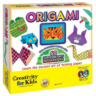 Creativity for Kids Origami Animals Craft Set Contains 60 Bright Neon Papers
