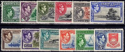 Gilbert & Ellice Is 1939 set of 12 SG43-54 Mtd Mint