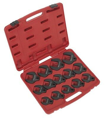 "Sealey Crow's Foot Spanner Set 14pc 1/2""Sq Drive Metric"