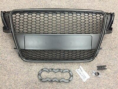 Suitable For Audi A5 Black Edition Front Grille Matt Black RS5 2007-2011