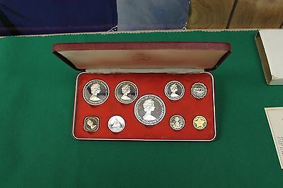 1972 BAHAMA ISLANDS proof silver coin set - Franklin Mint