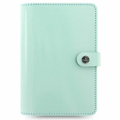 Filofax Original Personal Leather Organiser Duck Egg Blue With Ruler