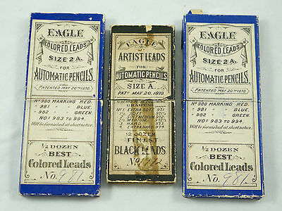 Vintage / Antique Eagle Automatic Pencil Leads, Blue - see details