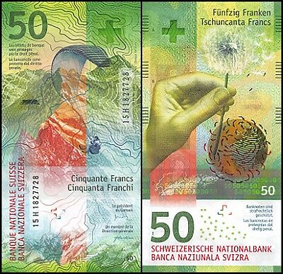 Switzerland 50 Francs, 2015, P-NEW, UNC