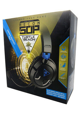 New Turtle Beach RECON 50P Black Headband Headsets for Microsoft PS4, PC Xbox On