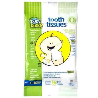 Baby Buddy Tooth Tissues Dental Wipes, Bubble Gum, 30 Count .