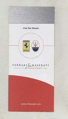 2003 ? Ferrari Enzo 550 Formula 1 Maserati Orange County Dealer Brochure ww4191