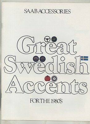 1982 Saab Accessories Sales Brochure ww4211