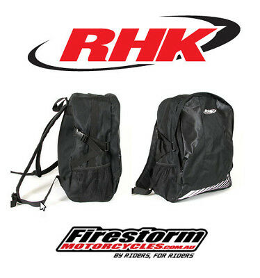 Rhk Black Backpack School Race Day Bag Motocross Enduro Back Pack