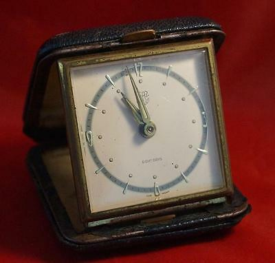 Vintage Herz 8 Day Travel Alarm Clock Made in Germany