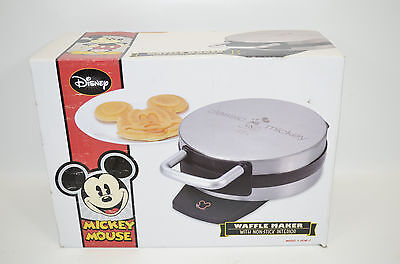 Disney Mickey Mouse Waffle Maker Iron Non-Stick Interior Stainless Steel DCM-1