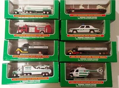 Hess Miniature Truck collection from 1998-2005, 8 in all