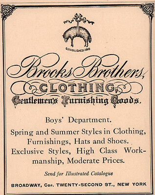 Early 1900 Ad Brooks Brothers Gentlemens Furnishing Goods Riding Shooting