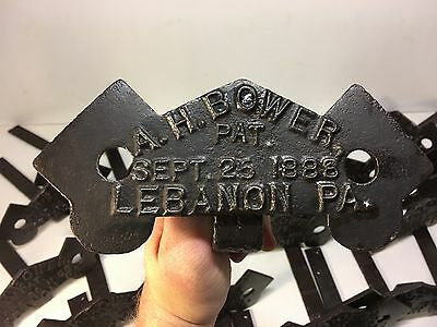 30 Complete Antique Rare Cast Iron A.H. BOWERS Lebanon Pa Snowbirds Restored HTF