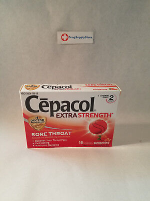 Cepacol Sore Throat, Extra Strength, Lozenges, Tangerine - 16 Count