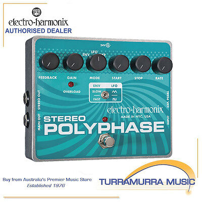 Electro Harmonix Stereo Polyphase Optical Envelope LFO Phase Effect FX Pedal EHX