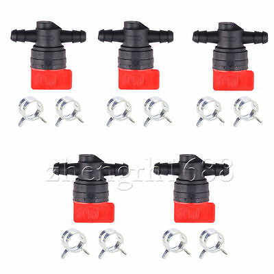 "5 PCS for Briggs Stratto 1/4"" In line straight Gas fuel shut OFF/CUT OFF valves"
