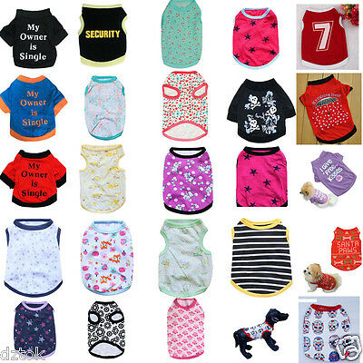 New Pet Clothes Small Cat Dog Vest Puppy Apparel Clothing T Shirt Pet Costume