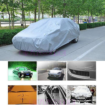 Waterproof Sun UV Snow Rain Dust Resistant Protection Full Car Cover Size XL New