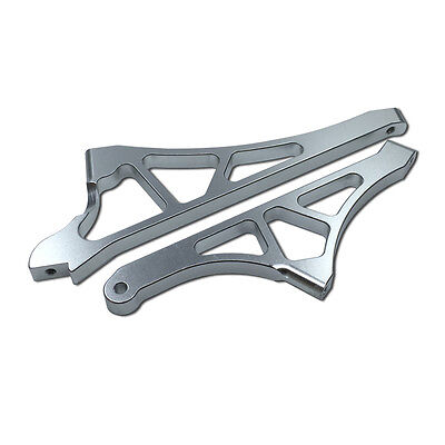 Alloy CNC Front and Rear Support Brace Silver Fit Losi 5ive T