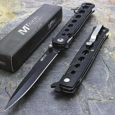 "MTECH USA STILETTO 5"" Folding Knife Pocket Knife BLACK - FAST DISPATCH!"